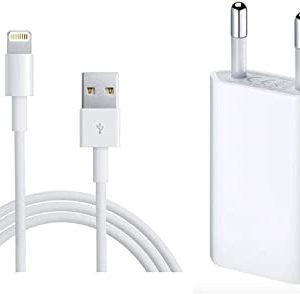 Kit Alimentatore UBS 5W + Cavo Lightning USB 1MT